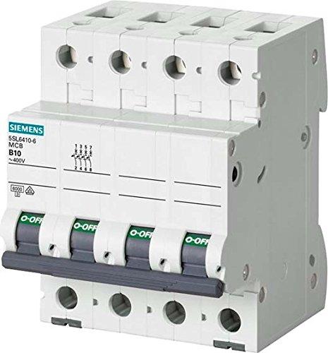 Siemens 5sl6–Pommeau de levier de Magnetotermico 400V 6KA 3+ Neutre Bâtons C 63A 5SL6663-7