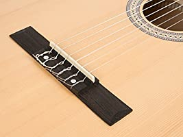 CASCHA HH 2043 DE Guitarra Clásica 4/4 Bundle, mate natural, tapa ...