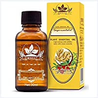 Ownest Ginger Massage Oil,100% Pure Natural Lymphatic Drainage Ginger Oil,Spa Massage Oils,Repelling Cold and Relaxing Active Essential Oil-30ml
