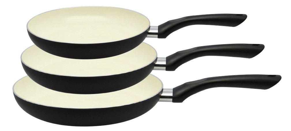 M+K by ELO 78203 Mi Cocina Juego de sartenes, Aluminio, Negro, 3 Piezas, 47 x 28 x 13 cm: Amazon.es: Hogar