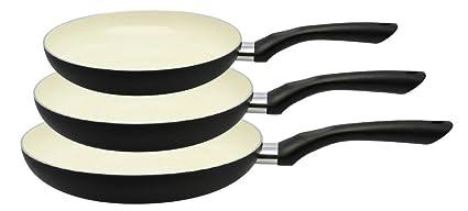 M+K by ELO 78203 Mi Cocina Juego de sartenes, Aluminio, Negro,