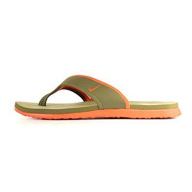 NIKE Men s Celso thong plus Thong Sandals Brown Kaki et orange 10  Amazon.co .uk  Shoes   Bags 8b52e9c4e