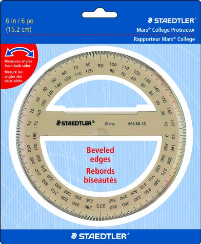 "Staedtler Protractor 6"" 360 Degrees, 56880-15BK"