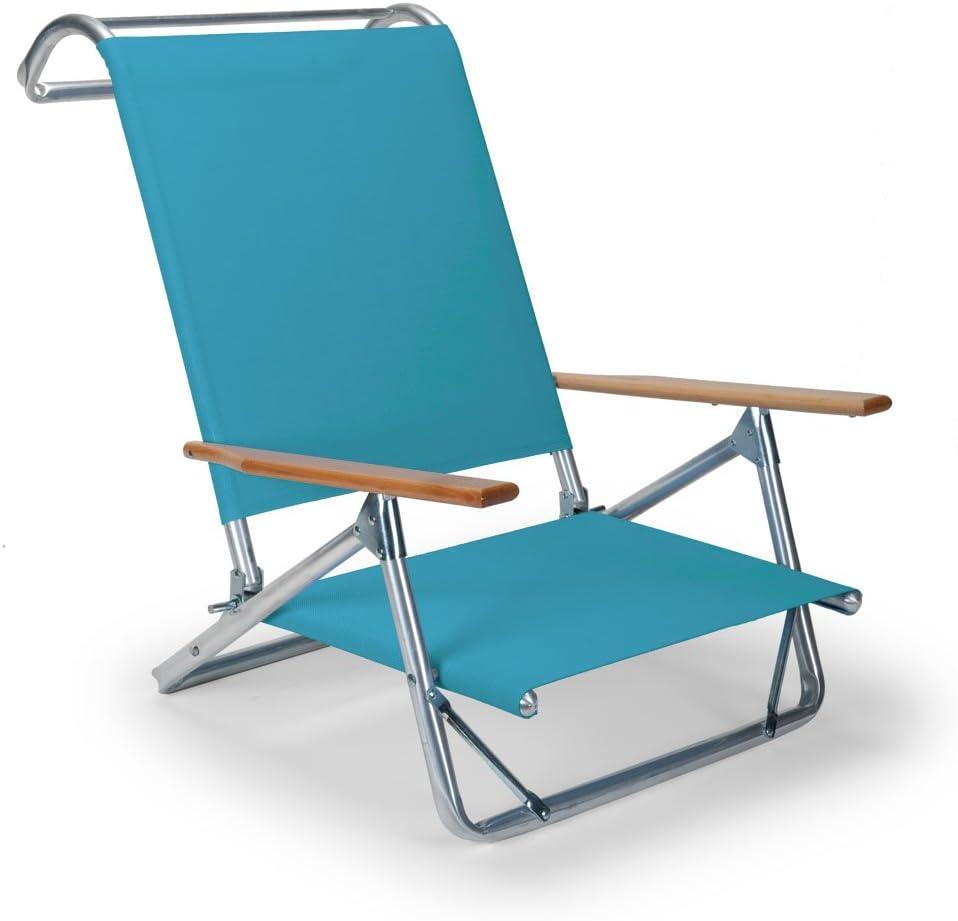 Telescope Casual Original Mini-Sun Chaise Folding Beach Arm Chair, Aqua