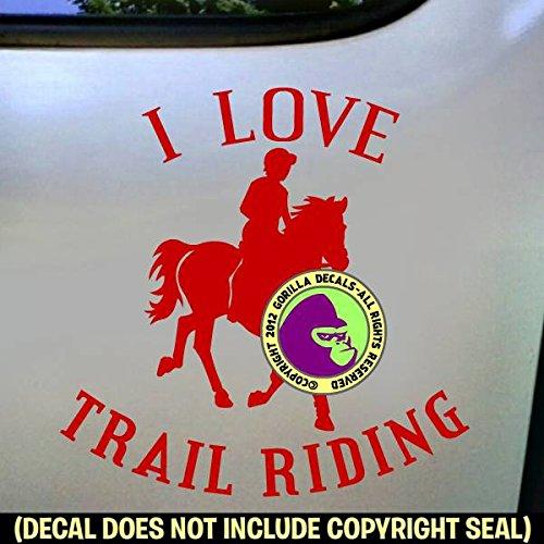 I LOVE TRAIL RIDING Horse Rider Vinyl Decal Sticker C