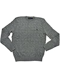 Polo Ralph Lauren Men's Silk Cable Crewneck Pony Logo Sweater