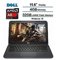 """Dell Inspiron 11.6 inch Laptop, AMD A6-9220e processor 2.5GHz, 11.6"""" HD (1366 x 768) Display, 4GB DDR4 SDRAM, 32GB eMMC Flash Memory, Win 10 w/1-year Microsoft Office 365 Personal"""