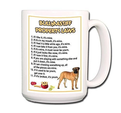 Bullmastiff Property Laws Coffee Tea Mug 15 oz No 1