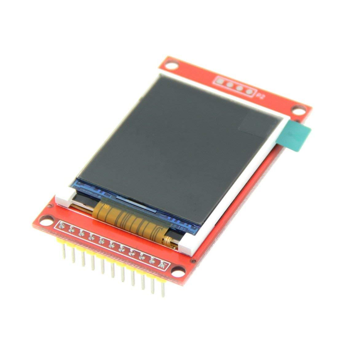 couleur: rouge et noir 3.3V IC ST7735S avec emplacement pour carte SD 160 Affichage LCD 1,8 pouces pour le driver IC Arduino 5V R/ésolution LCD s/érie 1.8inch TFT SPI 128