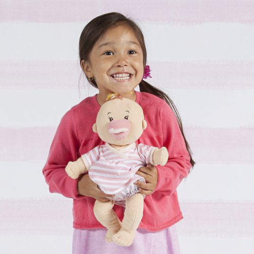 """Manhattan Toy Baby Stella Peach Soft First Baby Doll for Ages 1 Year and Up, 15"""""""