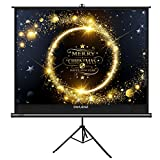 The First Projector Screen with Stand Green Environmental, OWLENZ Indoor and Outdoor Movie Screen 100 Inch Diagonal 4:3 with Premium Wrinkle-Free Design (Easy to Clean, 1.1 Gain, 160° Viewing Angle)