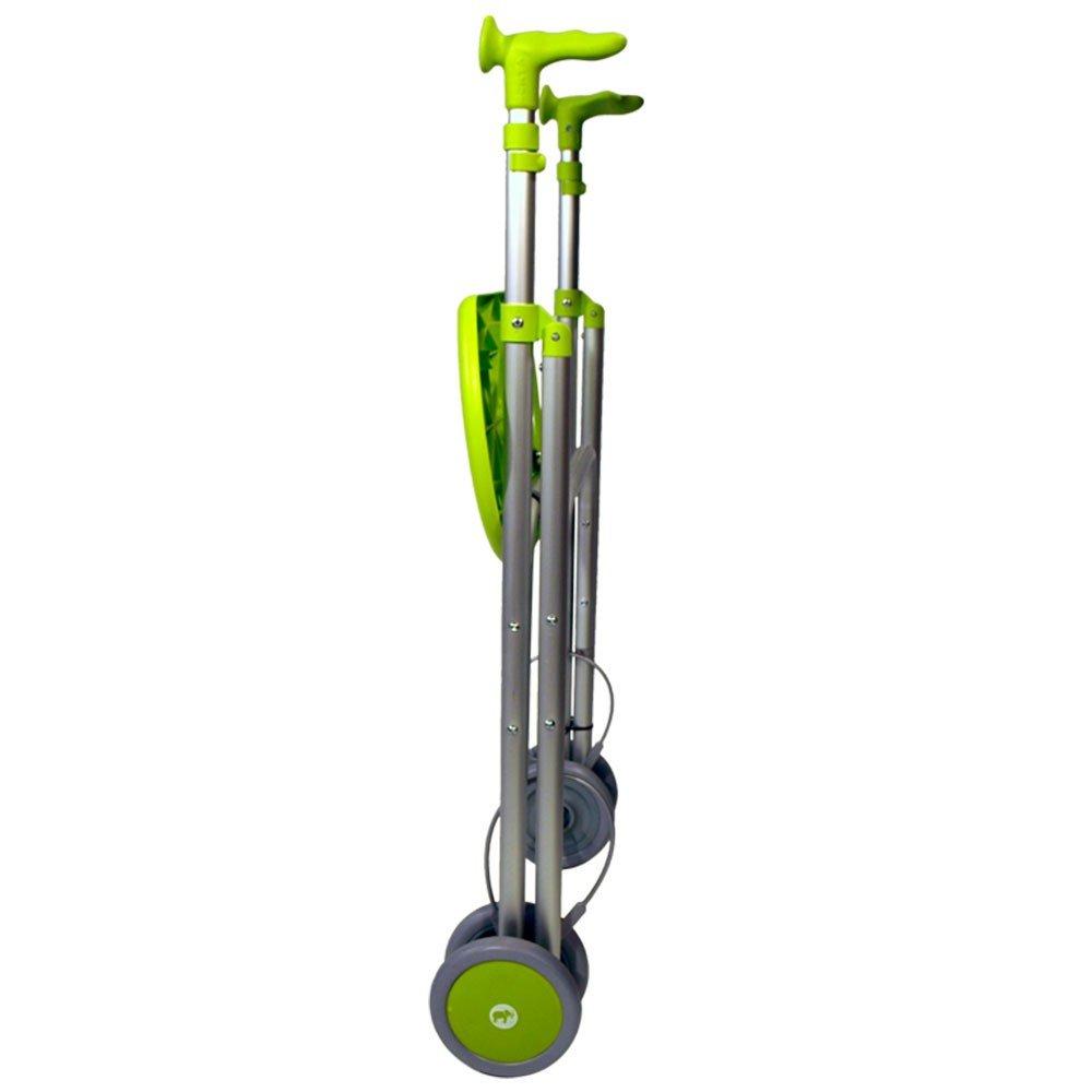 Andador Rollator | De aluminio | Plegable | Regulable en altura | Color esmeralda