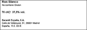 Bacardi Carta Blanca Ron, 700ml: Amazon.es: Alimentación y ...