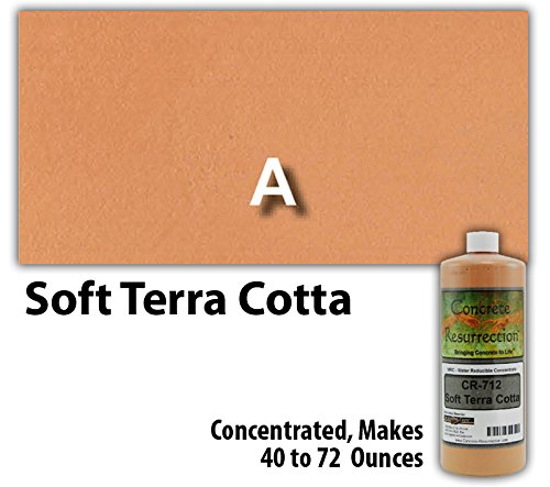 Concrete Stain Concentrate Just Add Water, User & Eco-Friendly Semi-Transparent Professional Grade Cement Stain, Concrete Resurrection Brand (8 ounce, Soft Terra Cotta)