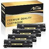 Arcon 4 Packs Compatibel for HP 78A CE278A Canon 128 Toner Cartridge Replacement for Canon Imageclass D530, HP LaserJet P1606dn, HP 1536DNF, Canon Imageclass MF4770n D550 MF4880dw LBP6230dw Printer