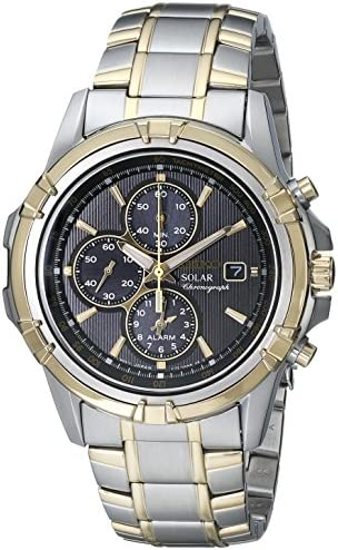 Seiko Men s Two-Tone Chronograph Solar Dress Watch