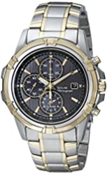 Seiko Men's SSC142 Stainless Steel Solar Dress Watch