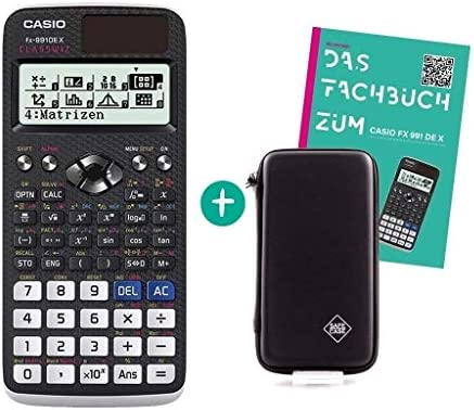 Casio FX-991DE X + Libro de Referencia + Funda Protectora SafeCase: Amazon.es: Oficina y papelería