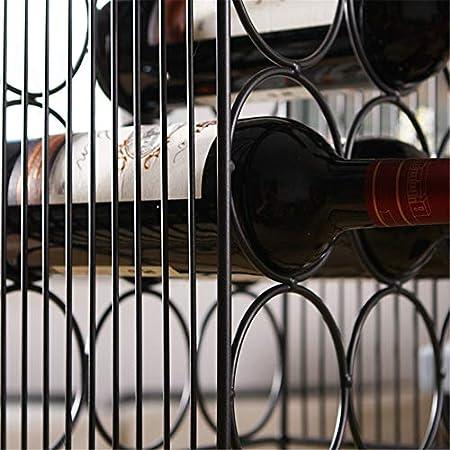 Shocly 12 Botellas EstanteríA De Vino Botellero para Estante Botellas Agua O Refrescos Escaparate Estante Tinto DecoracióN Moda Creativo