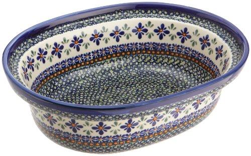 Bunzlauer Polish Pottery 3-Quart Casserole, DU60 Design