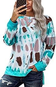 KINGFEN Womens Clothing Oversized Slouchy Fall Tie Dye Sweatshirt