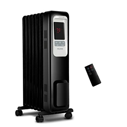 7869cd24f09 Image Unavailable. Image not available for. Color  PELONIS PLN978-B Oil  Filled Radiator Space Heater ...