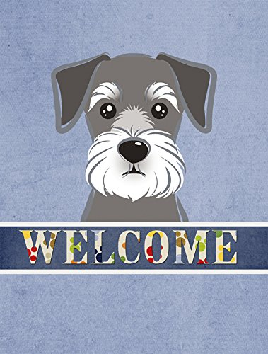 Caroline's Treasures BB1392GF Schnauzer Welcome Flag, Small, Multicolor from Caroline's Treasures