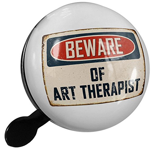 Small Bike Bell Beware Of Art Therapist Vintage Funny Sign - NEONBLOND