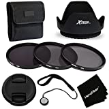 PRO 58MM ND Filters Accessory KIt w/ 3 Piece 58mm ND (Neutral Density) Filters (ND2 ND4 ND8) + 58mm Hard Lens Hood + 58mm Lens Cap for Canon EOS Rebel T6i T6s T5i T5 T4i T3i T3 and all 58mm Cameras