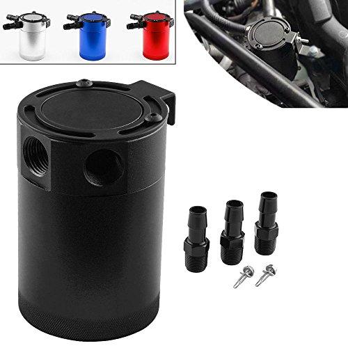 etbotu negro compacto Baffled 3puertos retén de aceite puede engrasador de aceite de residuos de reciclaje doble cara...