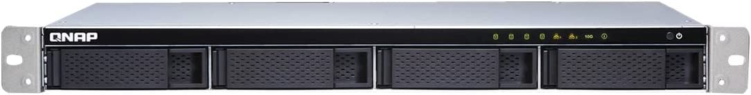 QNAP TS-431XeU Ethernet Rack (1U) Black,Stainless Steel NAS - Unidad Raid (HDD,SSD, Serial ATA,Serial ATA II,Serial ATA III, 2.5,3.5