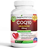 Pure CoQ10 (High Potency 200mg) - High Absorption CoQ-10 Enzyme Ubiquinone Supplement Pills, Extra Antioxidant Coenzyme Q10 Vitamin Tablets, CoQ 10 for Healthy Blood Pressure & Heart