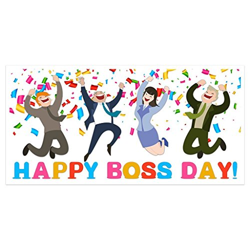 Happy Boss Day Banner Party Backdrop ()