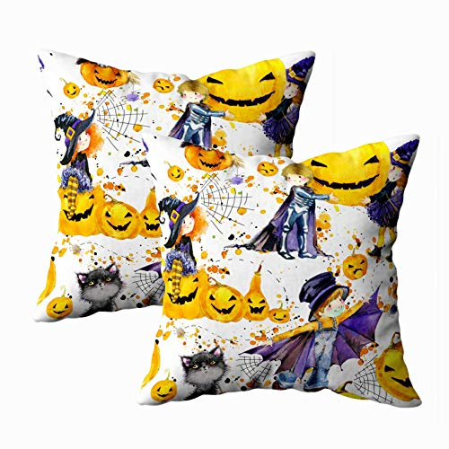 Anucky Pillow Covers 18x18 2Pack,Throw Pillow Cases, Watercolor