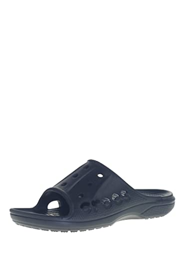 09bb28eebc75 crocs Unisex Baya Slide Black Rubber Flip-Flops and House Slippers - M13   Shoes  12000-001-M13  Buy Online at Low Prices in India - Amazon.in
