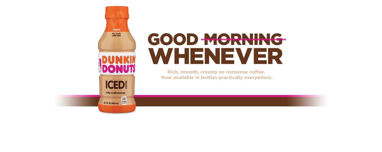 Dunkin' Donuts Original Iced Coffee Bottle, 13.7 fl oz