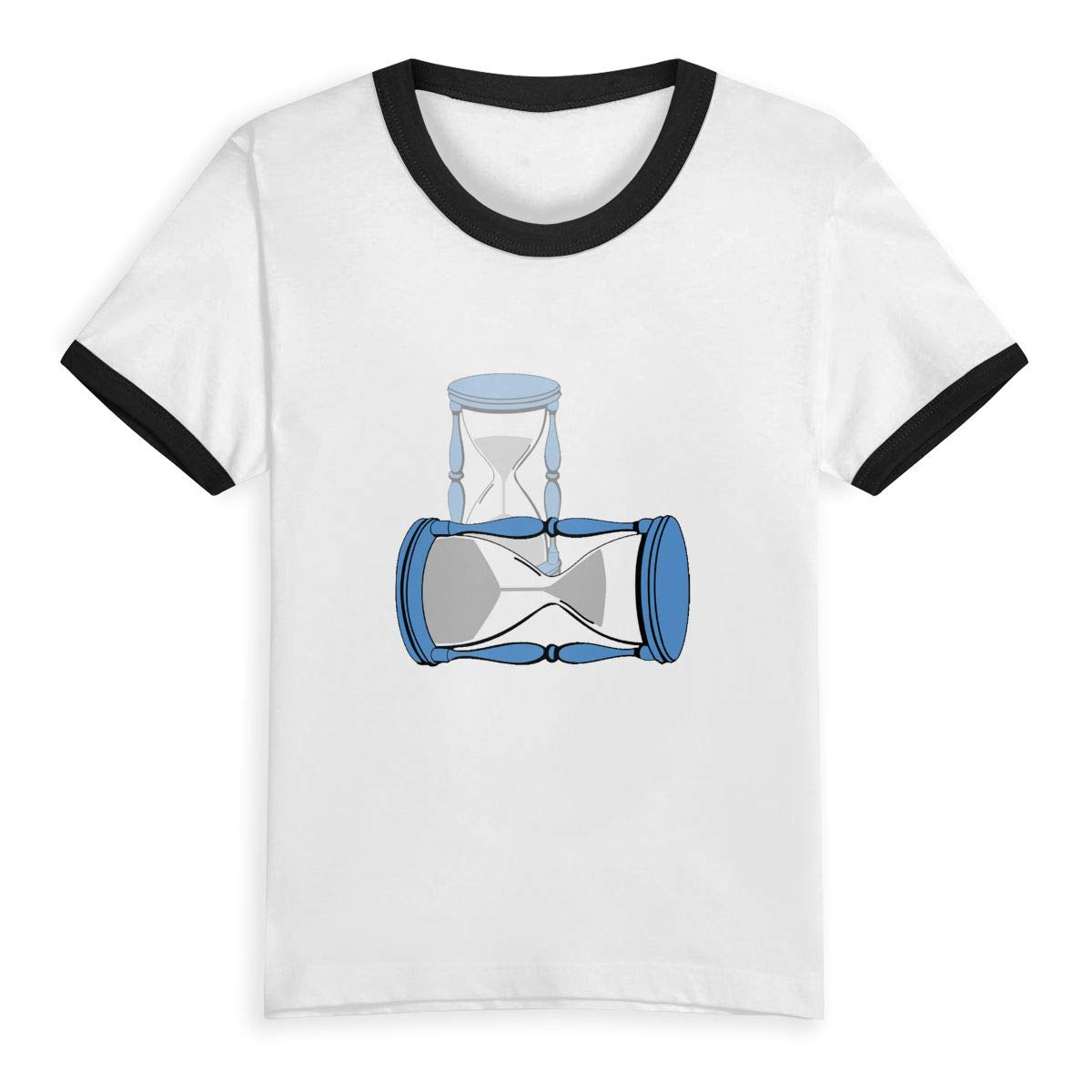 Hourglass Kids Boys Girls Round Neck Short Sleeve Tee Jersey Contrast Color Tshirt by CZHYMYZ