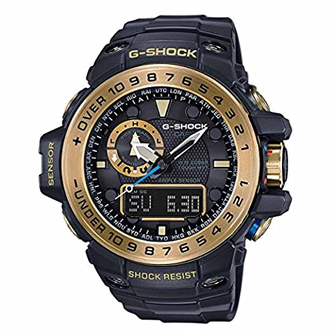 G-Shock GWN-1000GB Master of G Series Stylish Watch - Black and Gold / One Size (Gshock Watches Master Of G)