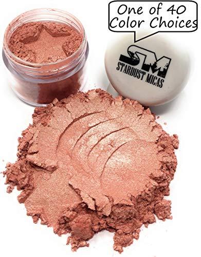 (Cosmetic Grade Mica Powder, Natural Blush Powder, Mica Powder for Makeup, Peach Blush Pigment Powder, Making Cosmetics, Bath Bombs, Resin Pigment, Stardust Micas Golden Guava)