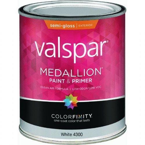 (Medallion 27-4300 QT 1 Quart White Exterior Latex House & Trim Paint Semi Gloss)