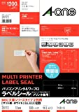 -One (A-one) printer and personal computer word processor label seal [printer combined use] NEC great writer Series Type 2 rows mat paper, white 100 sheet 12 side A4 size (1,200 pieces) 28172 (japan import)