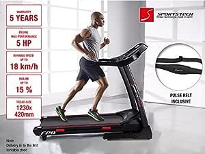 Sportstech F25 cinta de correr semi-profesional con 5 HP 18 kmh ...