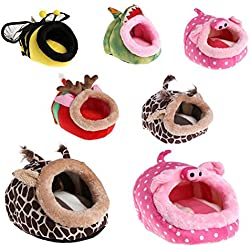 YuYe Lovely Cartoon Animal Pet Nest Bed Squirrel Puppy Hamster House Sleeping Cage - L Giraffe#