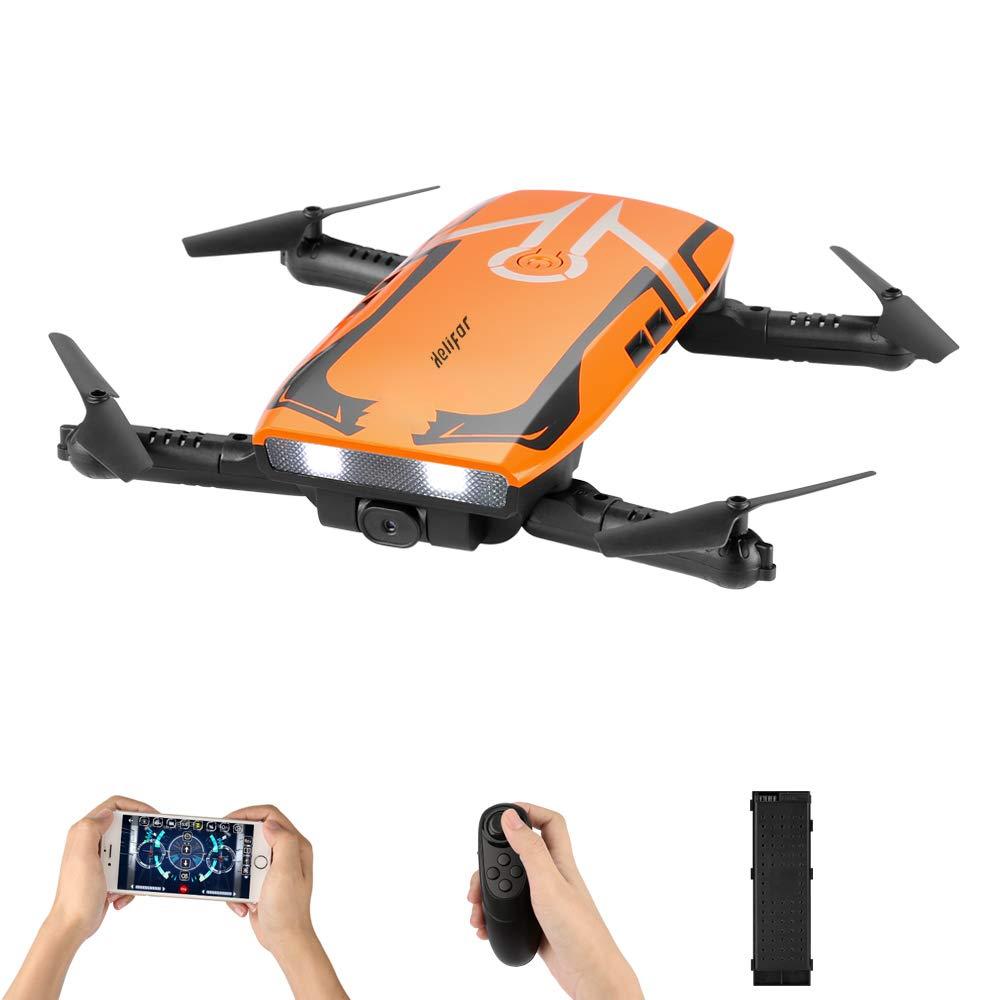 HELIFAR Drone con cámara HD, H818 RC Plegable Mini Drone WiFi FPV ...