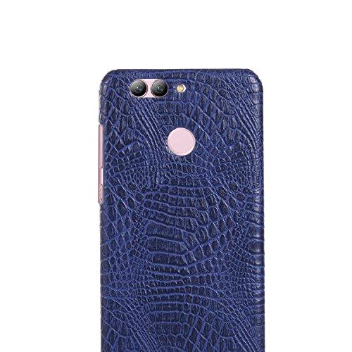Funda Huawei Nova 2 Plus, SunFay Funda Posterior Protector de PC Carcasa Back Cover de Parachoques Piel PU Protectora de Teléfono Para Huawei Nova 2 Plus - Rosa Purpura-azul