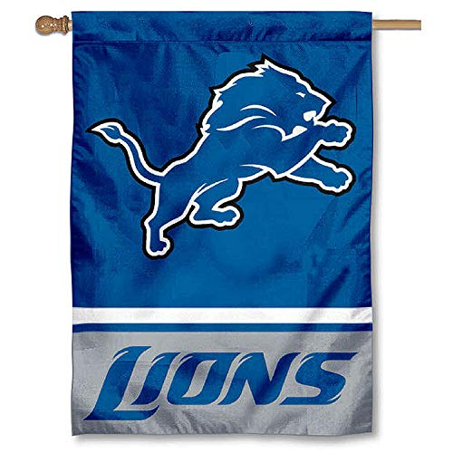 WinCraft Detroit Lions Two Sided House Flag ()