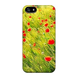 Hot Style ZzoSHwn5635zZBKD Protective Case Cover For Iphone5/5s(mother S Day Beautiful Flower Poppies)
