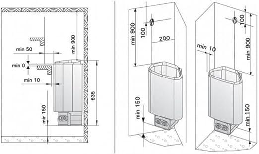 Harvia Saunaofen Delta EE 3,6 kW Elektroofen D36EE Saunaheizung Saunaheizgerät