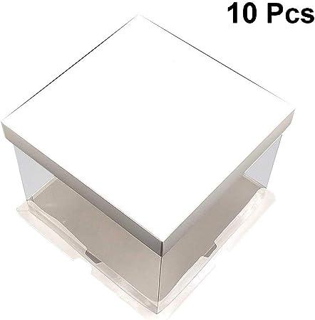 UPKOCH Recipiente para pastel de cumpleaños transparente para pastelería con caja de papel de embalaje portátil para ventana: Amazon.es: Hogar