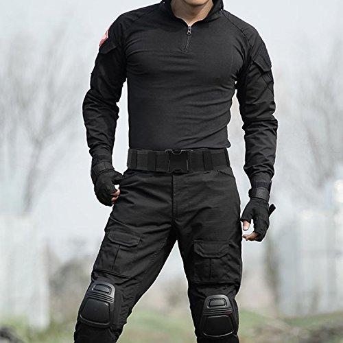 AGPTEK 2 Pouces Ceinture Ceinturon Tactique Militaire Police Nylon SWAT Combat Sport Noir 3